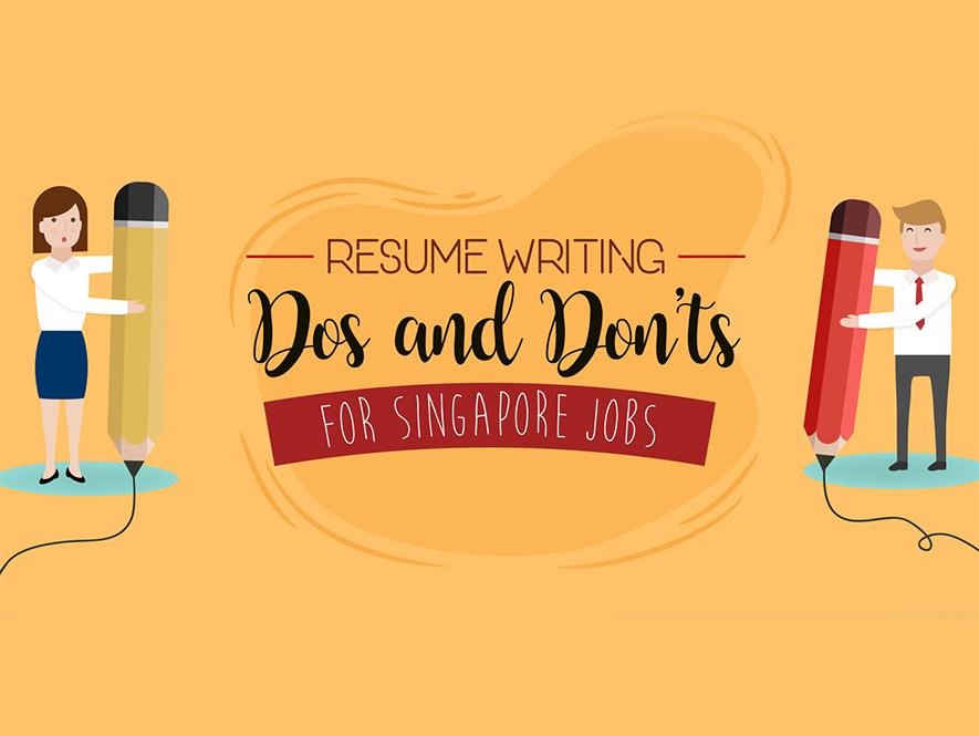 Singapore resume writing tips infographic