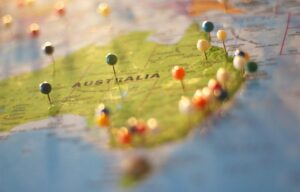 Map of Australia with pins - selection criteria